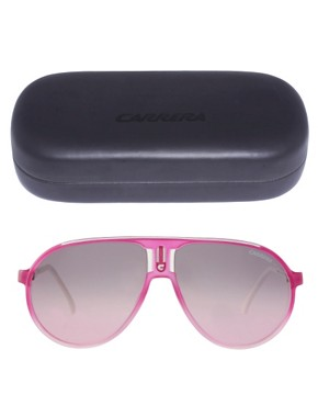 Image 2 ofCarrera Champion Fuchsia Aviator Sunglasses
