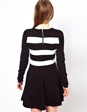 Image 2 ofOasis Stripe Detail Skater Dress