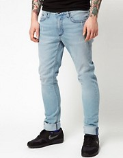 Analog  Enge Creeper-Jeans in transparenter &quot;Wheel Wash&quot;-Optik