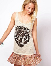Camiseta de tirantes con estampado de tigre de ASOS