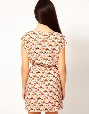 Image 2 of River Island Chelsea Girl Fox Tabbard Dress