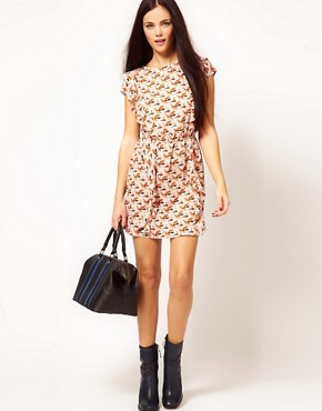 Image 4 of River Island Chelsea Girl Fox Tabbard Dress