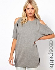 ASOS PETITE Knitted Dress With Open Shoulder