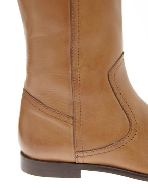 Image 2 ofASOS CHIEF Leather Knee High Boots