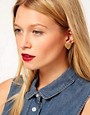 Image 2 ofASOS Squiggle Heart Stud Earrings