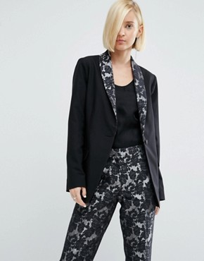 ASOS Jacquard Contrast Tuxedo Blazer Best Reviews