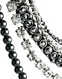Image 4 ofKenneth Jay Lane Multi Strand Necklace with Chain and Rhinestone