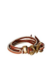 Nettie Kent Leather Wrap Bracelet