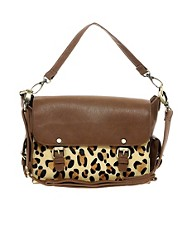 Warehouse Leopard Satchel