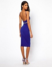 Oh My Love Belted Midi Dress with Scoop Back