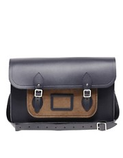 Satchel de cuero con bolsillo de pana de 15&quot; de The Cambridge Satchel Company
