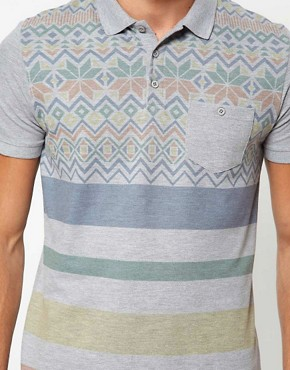 Image 3 ofASOS Polo With Fairisle Print And Stripe