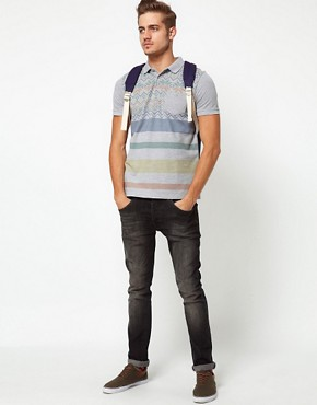 Image 4 ofASOS Polo With Fairisle Print And Stripe