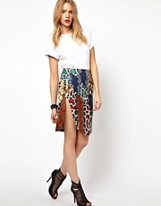 Lavish Alice PU Pencil Skirt In Python Print