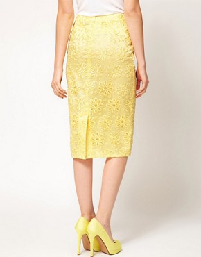 Image 2 ofASOS Pencil Skirt in Oversize Cutwork