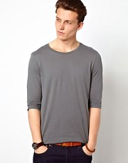 ASOS  T-Shirt mit 3/4-rmel und Rundhalsausschnitt