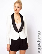 ASOS PETITE &ndash; Exklusiver Blazer mit abgesetztem Revers