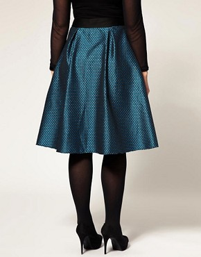 Image 2 ofASOS CURVE Midi Skirt In Brocade