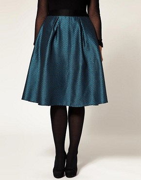 Image 4 ofASOS CURVE Midi Skirt In Brocade