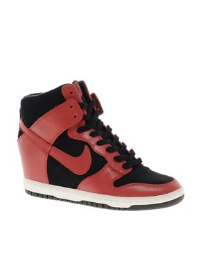 Image 1 ofNike Dunk Sky High Wedge Trainers
