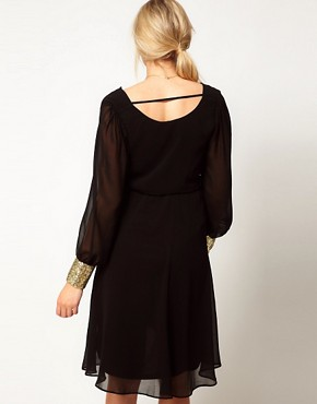 Image 2 ofASOS Maternity Midi Dress With Cowl Back And Embellished Cuffs