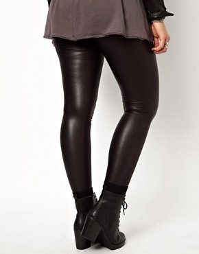 Image 2 ofASOS CURVE Exclusive Matte Legging
