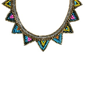 Image 2 ofASOS Triangle Bib Necklace