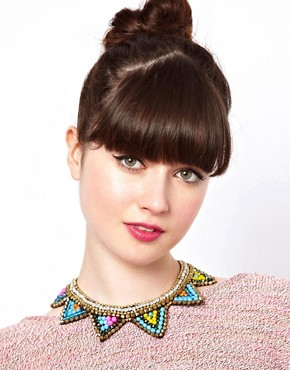 Image 3 ofASOS Triangle Bib Necklace