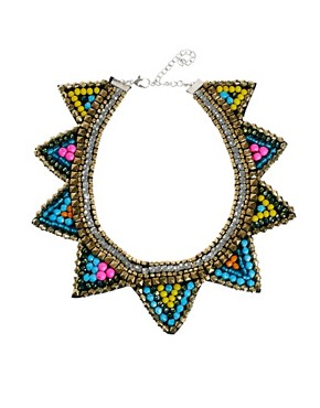 Image 1 ofASOS Triangle Bib Necklace