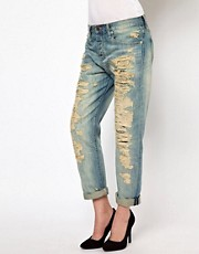 Denim &amp; Supply By Ralph Lauren Distressed Boyfriend Jeans