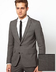 Selected Skinny Fit Blazer in Prince of Wales Check