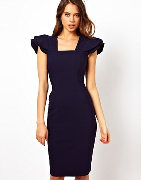 Image 1 ofHybrid Dress with Frill Sleeves