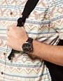 Image 1 ofASOS Gold &amp; Black Dial Watch