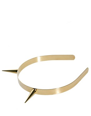 Image 2 ofASOS Gold Metal Spike Headband