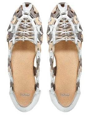 Image 2 ofASOS JEEVES Leather Flat Shoes