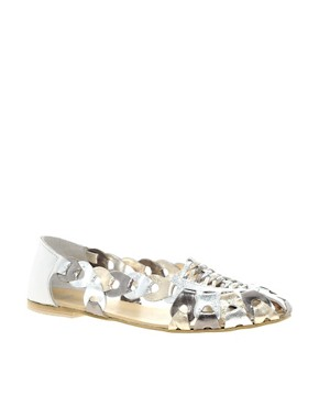 Image 1 ofASOS JEEVES Leather Flat Shoes