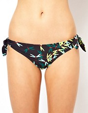 French Connection Dragonfly Bow Tie Side Bikini Bottoms