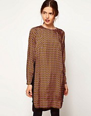 ASOS Shift Dress In Dandizette Geometric Print