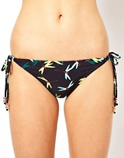 Braguitas de bikini con tiras y estampado de liblulas de French Connection