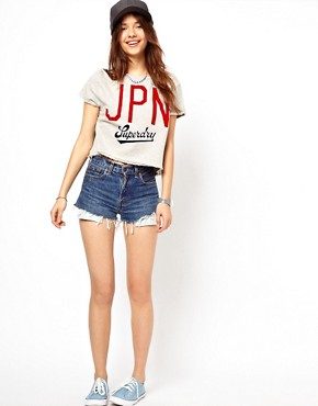 Image 4 ofSuperdry Jpn Boxy Crew Neck T-Shirt
