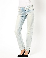 ASOS Brady Slim Boyfriend Jeans in Bleach Wash
