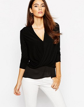 Lipsy Essentials Wrap Front Top