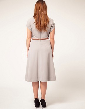 Image 2 ofASOS CURVE Midi Dress With Belt