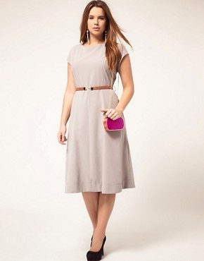 Image 4 ofASOS CURVE Midi Dress With Belt