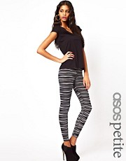 ASOS PETITE Leggings in Monochrome Pleats