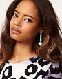 Image 2 of ASOS Chain Drop Heart Earrings