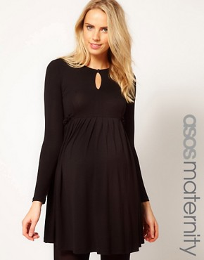 Image 1 ofASOS Maternity Smock Dress With Ruffle