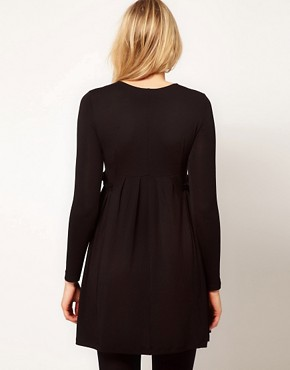 Image 2 ofASOS Maternity Smock Dress With Ruffle