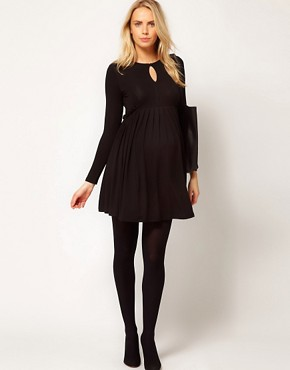 Image 4 ofASOS Maternity Smock Dress With Ruffle