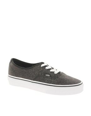 Image 1 ofVans Authentic Glitter Lace Up Trainers